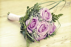 Photo of pink wedding bouquet Royalty Free Stock Images