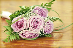 Photo of pink wedding bouquet Stock Photo