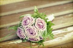 Photo of pink wedding bouquet Stock Image