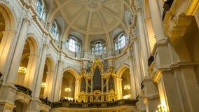 Pipe organ at Dresden cathedral Katholische Hofkirche church royalty free stock image