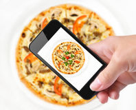 Photo pizza Stock Image