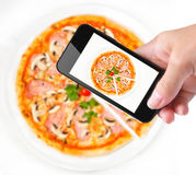 Photo pizza Stock Photos