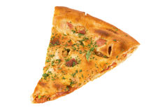 Photo of Pizza slice isolated over white Royalty Free Stock Photography