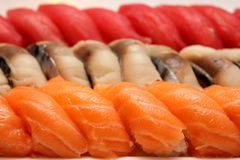 Photo of a plate with sushi. Stock Image
