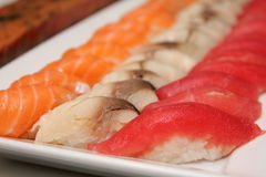 Photo of a plate with sushi. Royalty Free Stock Photography