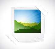 Photo and pocket illustration design Royalty Free Stock Photography
