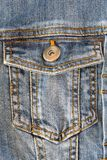 Photo of a pocket jeans Royalty Free Stock Photography