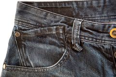 Photo of a pocket jeans Royalty Free Stock Image