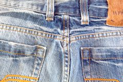 Photo of a pocket jeans Stock Image
