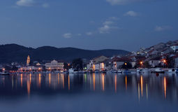 Photo of the port in late twilight Stock Images