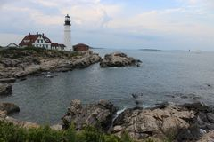 The Portland Head Light in Portland, Maine Stock Images