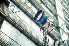 Photo présentant le réflecteur de rue Photographie stock