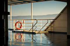 Photo presenting board of the ferry Royalty Free Stock Photo