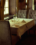 Photo presenting interior of luxury restaurant Royalty Free Stock Photos