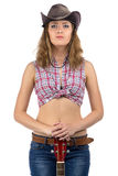 Photo of pretty young cowgirl Royalty Free Stock Images