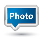 Photo prime blue banner button Stock Images
