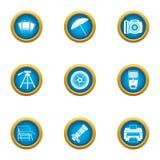 Photo print icons set, flat style. Photo print icons set. Flat set of 9 photo print vector icons for web isolated on white background Royalty Free Stock Image