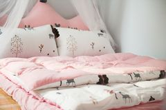 Photo of Printed Bed Linen Stock Photos
