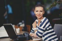 Photo processing, professional photographer Royalty Free Stock Photo