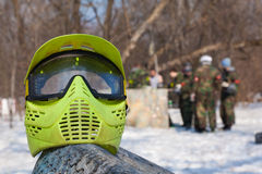 Photo protective mask for paintball game Royalty Free Stock Photos