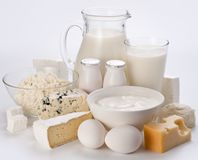 Photo of protein products. Royalty Free Stock Photos