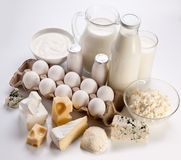 Photo of protein products. Stock Photo