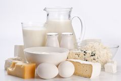 Photo of protein products. Royalty Free Stock Photo