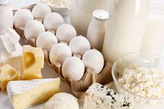 Photo of protein products. Stock Images
