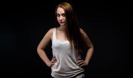 Photo of pudgy teenage girl Stock Photos