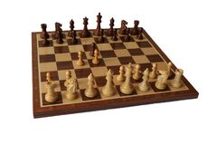 Chess opening. Queen`s Gambit. Royalty Free Stock Image