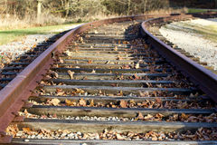 Photo of the railroad at fall time Royalty Free Stock Photography