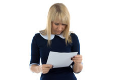 Photo of reading woman Stock Photography