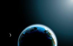 Photo-realistic aarde royalty-vrije illustratie