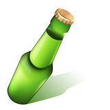 Photo-realistic beer bottle. Stock Image