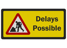 Photo realistic 'Delays Possible' road sign Stock Photos
