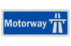 Photo realistic detailed 'motorway' sign Royalty Free Stock Images