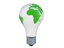 Photo realistic lamp with map of the World Royalty Free Stock Photos