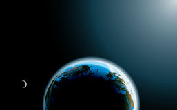Photo-realistic planet Earth Stock Photography