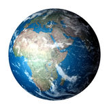 Photo Realistic Planet Earth Isolated On White Royalty Free Stock Photo