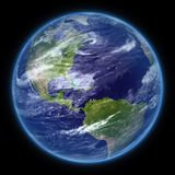 Photo realistic planet Earth isolated - PNG royalty free stock images