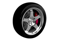 Photo-realistic vector illustration of car wheel Royalty Free Stock Image