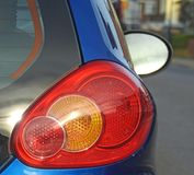 Motoring travel road rear car lamps Royalty Free Stock Photography