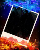 Photo in red and blue flame Royalty Free Stock Image