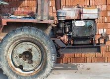 Bricks and bulldozer Stock Photography