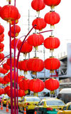 Photo red Chinese lanterns Royalty Free Stock Photography