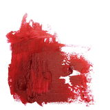 Photo red grunge brush strokes oil paint isolated on white. Background Stock Photo