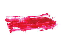 Photo red grunge brush strokes oil paint isolated on white Stock Photos
