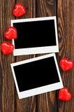 Photo and red hearts Stock Photo