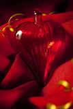 Photo of red valentines hart. With red background royalty free stock image