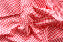 Photo of red wave fabric bacground Stock Photography